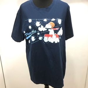 Peanuts Snoopy Flying Ace Navy T-Shirt